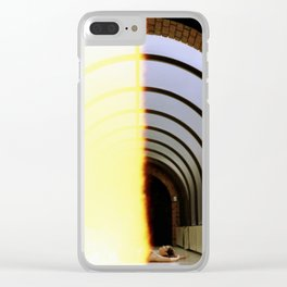 Burnt Film Clear iPhone Case