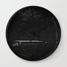 Mist on the Pontoon Wall Clock