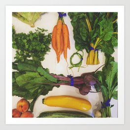 All the Veggies - CSA Series Art Print