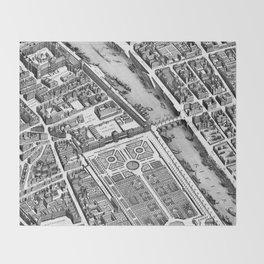 Map of Paris 1793 Throw Blanket