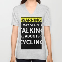 May Start Talking About Cycling Funny Gift Unisex V-Neck