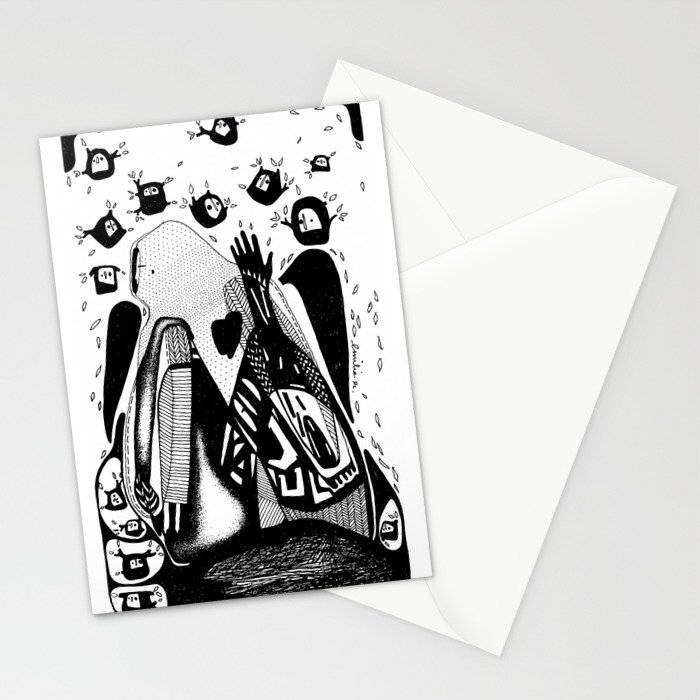 The you-Emilie Record Stationery Cards