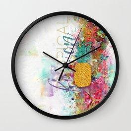 Tropical Fusion Wall Clock