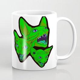 Green cat scream Coffee Mug
