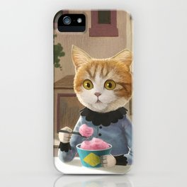 Yummy ice cream and a Cat iPhone Case