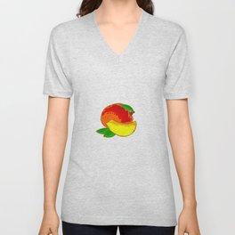 Mango Heart Unisex V-Neck