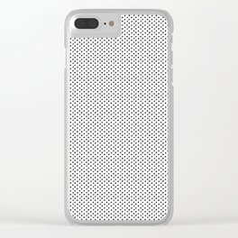 Hand Drawn Dots Clear iPhone Case