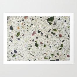green Terrazzo Art Print