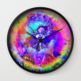 Neon Scream Wall Clock