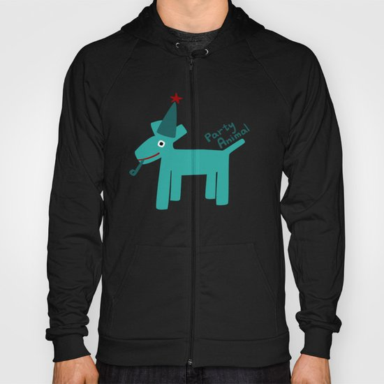 Party Animal-Teal Hoody