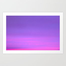 Pink and purple sky a winter morning Art Print
