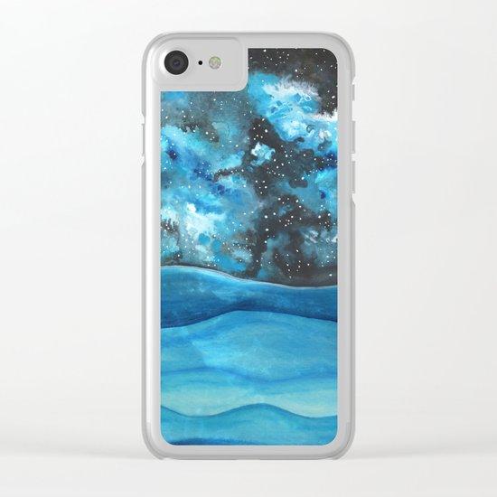 Beautiful Galaxy Clear iPhone Case