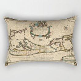 Map of Bermuda 1662 Rectangular Pillow