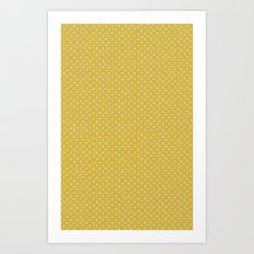 Yellow spots Art Print