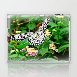 The Common Mime Butterfly on flowers Laptop & iPad Skin