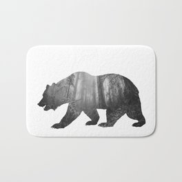Bear Silhouette | Forest Photography Bath Mat