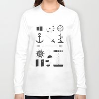 ouat Long Sleeve T-shirts featuring OUAT - A Pirate by Redel Bautista