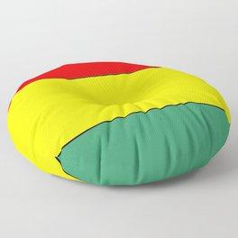 flag of bolivia 3 -bolivian,boliviano,bolivian,Sucre, La Paz. Floor Pillow