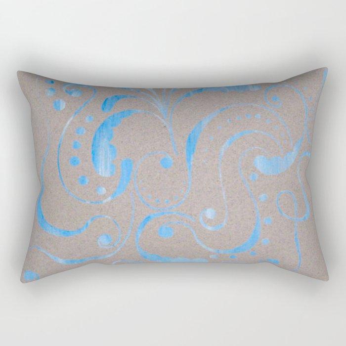 marbled design Rectangular Pillow