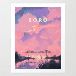 Boro Art Print