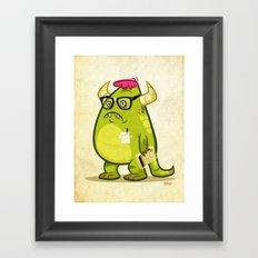 Monster Nerd Framed Art Print