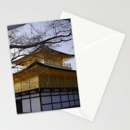 Kyoto Gold temple (Kinkaku-ji) in the snow  Stationery Cards