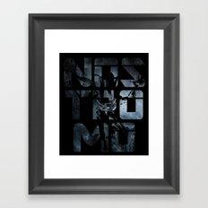 NOSTROMO Framed Art Print