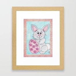Easter Bunny with Egg Framed Art Print