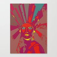 medusa Canvas Prints featuring MEDUSA by Julia Lillard Art