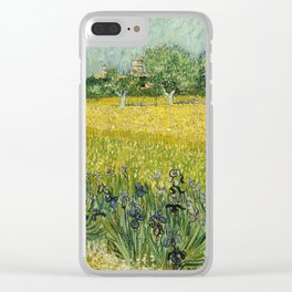 Field with Flowers near Arles by Vincent van Gogh Clear iPhone Case