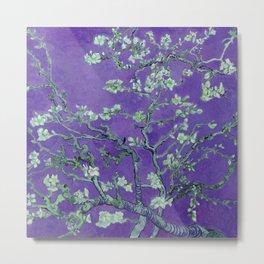 "Vincent van Gogh ""Almond Blossoms"" (edited purple) Metal Print"