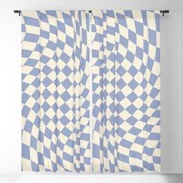 Blue Sky Checker Blackout Curtain