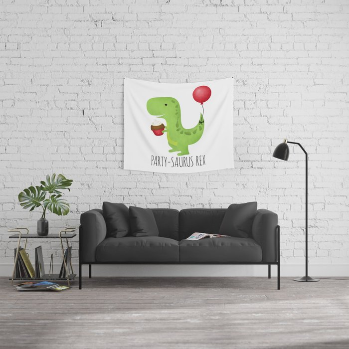 Party-Saurus Rex Wall Tapestry