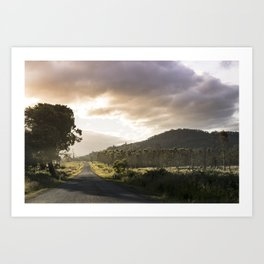 Where the road leads to the wilderness Art Print