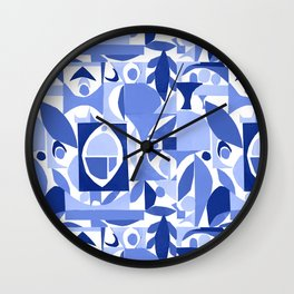 tango in blue ... Wall Clock