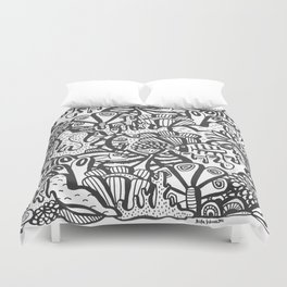 Life Aquatic Duvet Cover