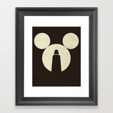 The Dark Side of the Mouse Framed Art Print