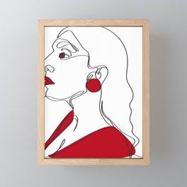 One-Line Art Rupi Kaur Framed Mini Art Print