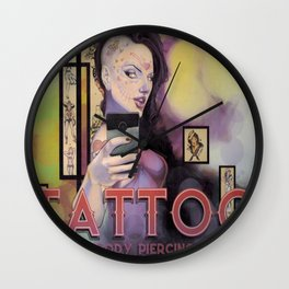 Hot Day Of The Dead Chick Wall Clock