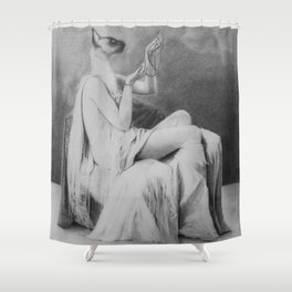 Moonlight becomes you Shower Curtain