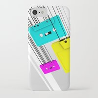 cassette iPhone & iPod Cases featuring Cassette by Delaney Digital