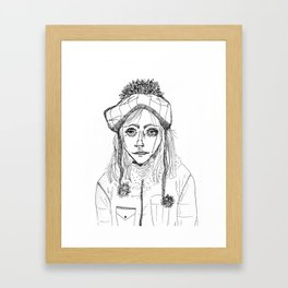 Snow Sleet Sad Framed Art Print