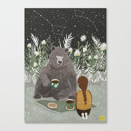 TEA BEAR Canvas Print
