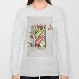 Green and red fresh juices or smoothies Long Sleeve T-shirt