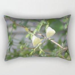 Pair of Great Southern White butterflies Rectangular Pillow