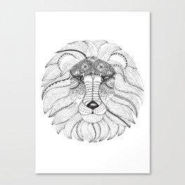 Leo Black/White Canvas Print