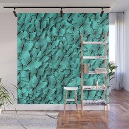 teal butterflies Wall Mural