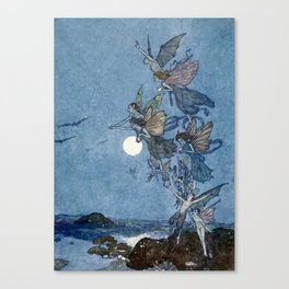 """Elves"" Fairy Tale Art by Edmund Dulac Canvas Print"