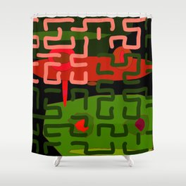 ABSTRACT SQUAT Shower Curtain