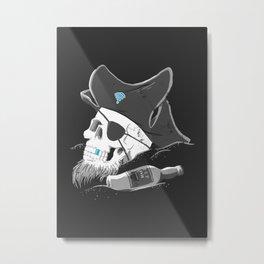 Bluetooth the Pirate Metal Print